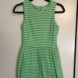 J Crew striped dress with pockets!